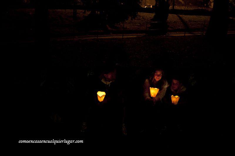 velas nocturnas en santuario