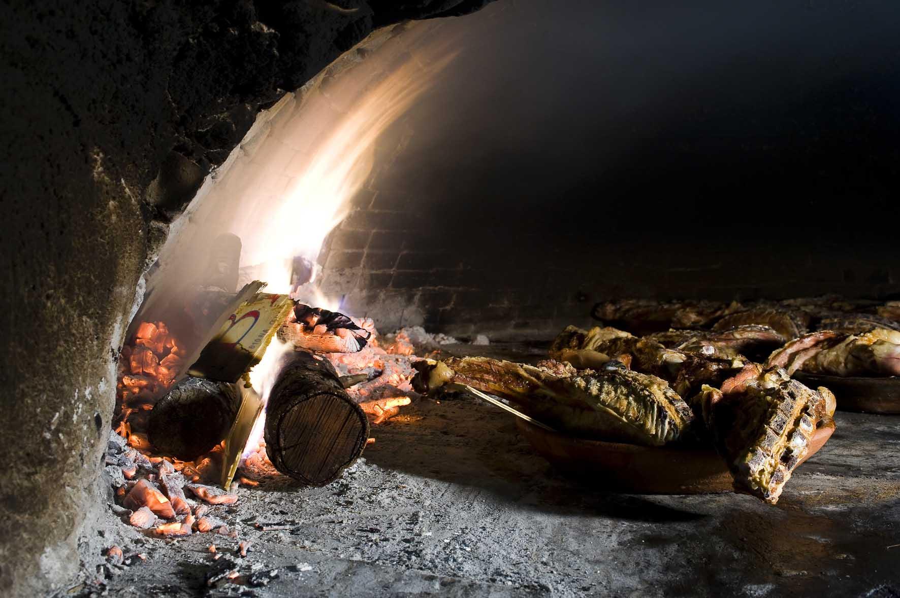 Interior de horno lechazo Aranda de Duero