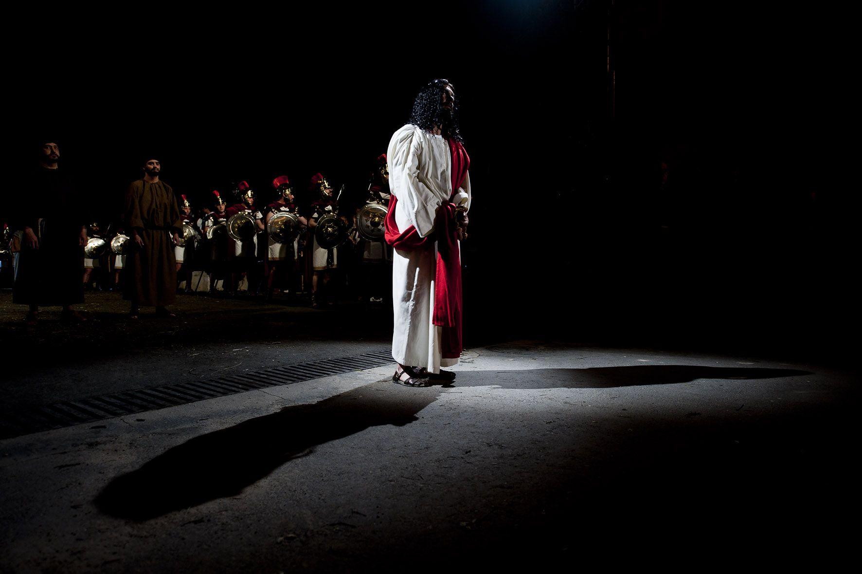 Juzgado en el balcon de Pilatos, La Pasión Chinchón.