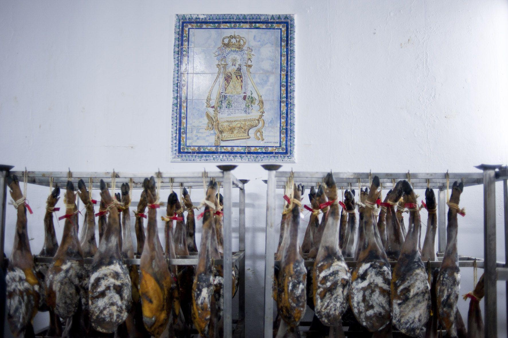 Secadero de jamones ibericos de Fregenal de la sierra