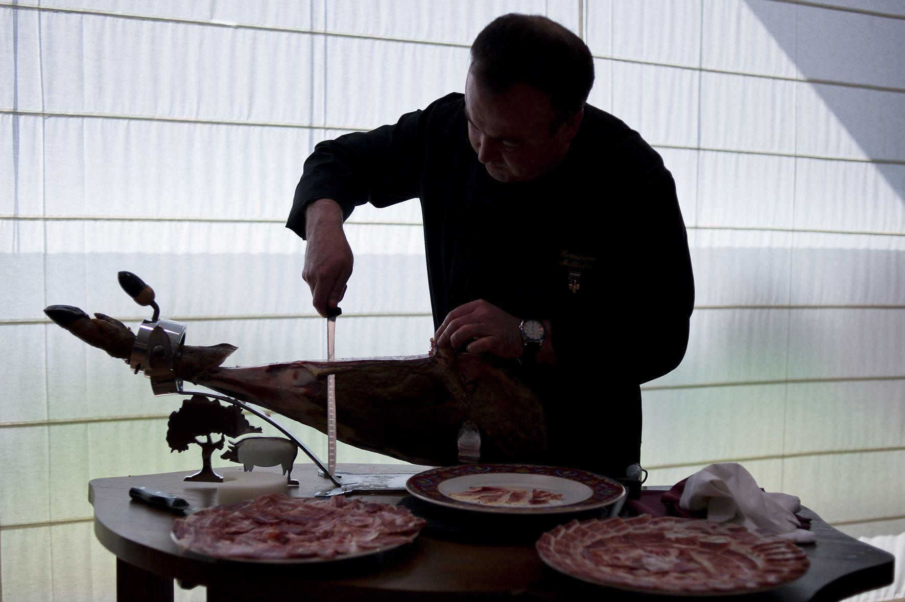 Demetrio Calderón, maestro cortador de Monesterio