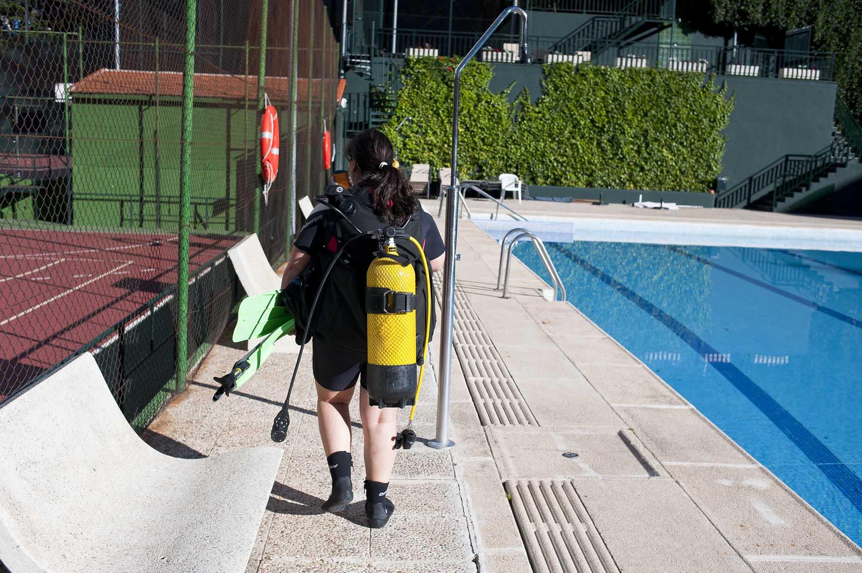 Bautismo de buceo en Madrid