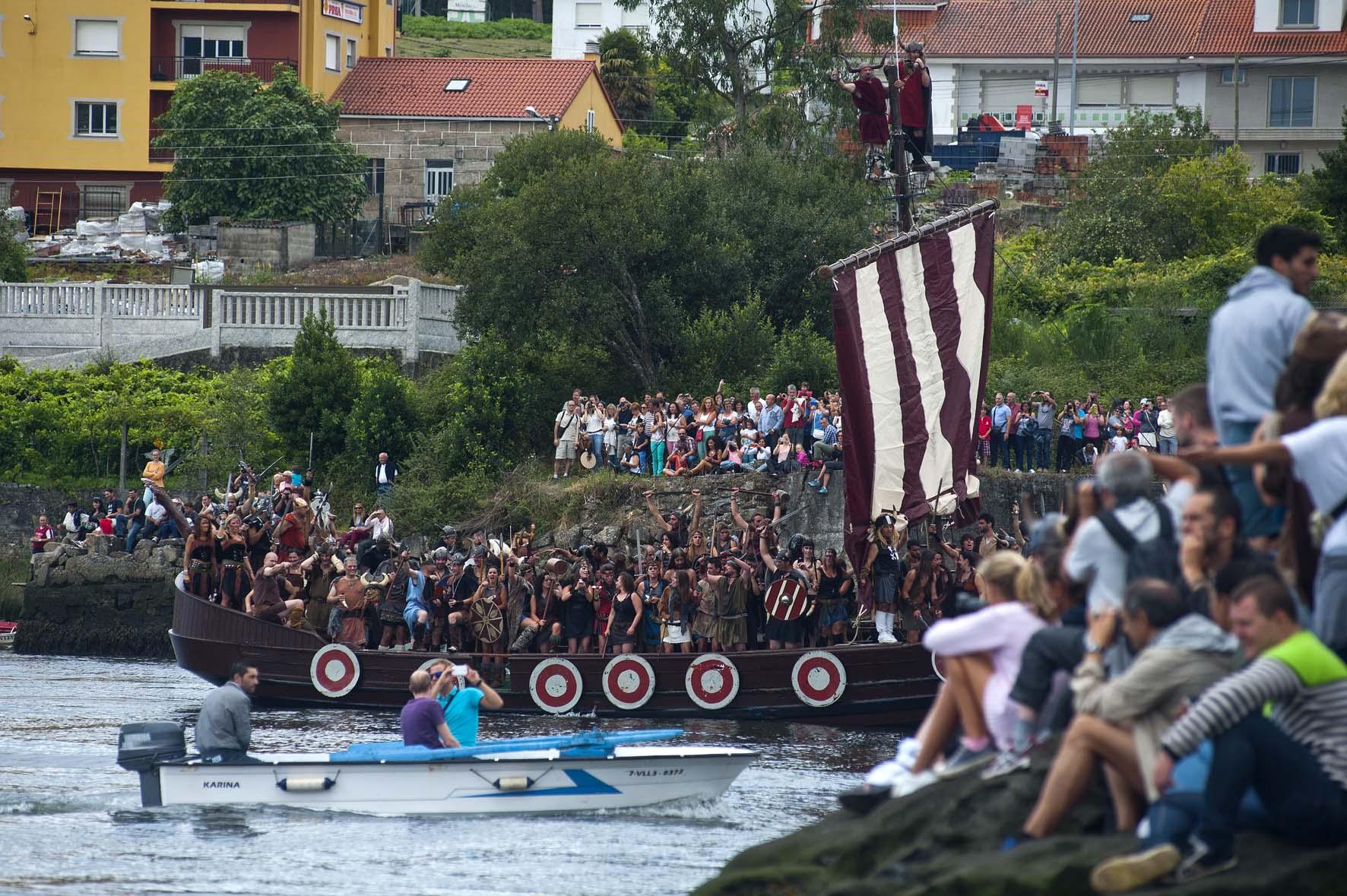 Vikingos en España: desembarco vikingo de Catoira