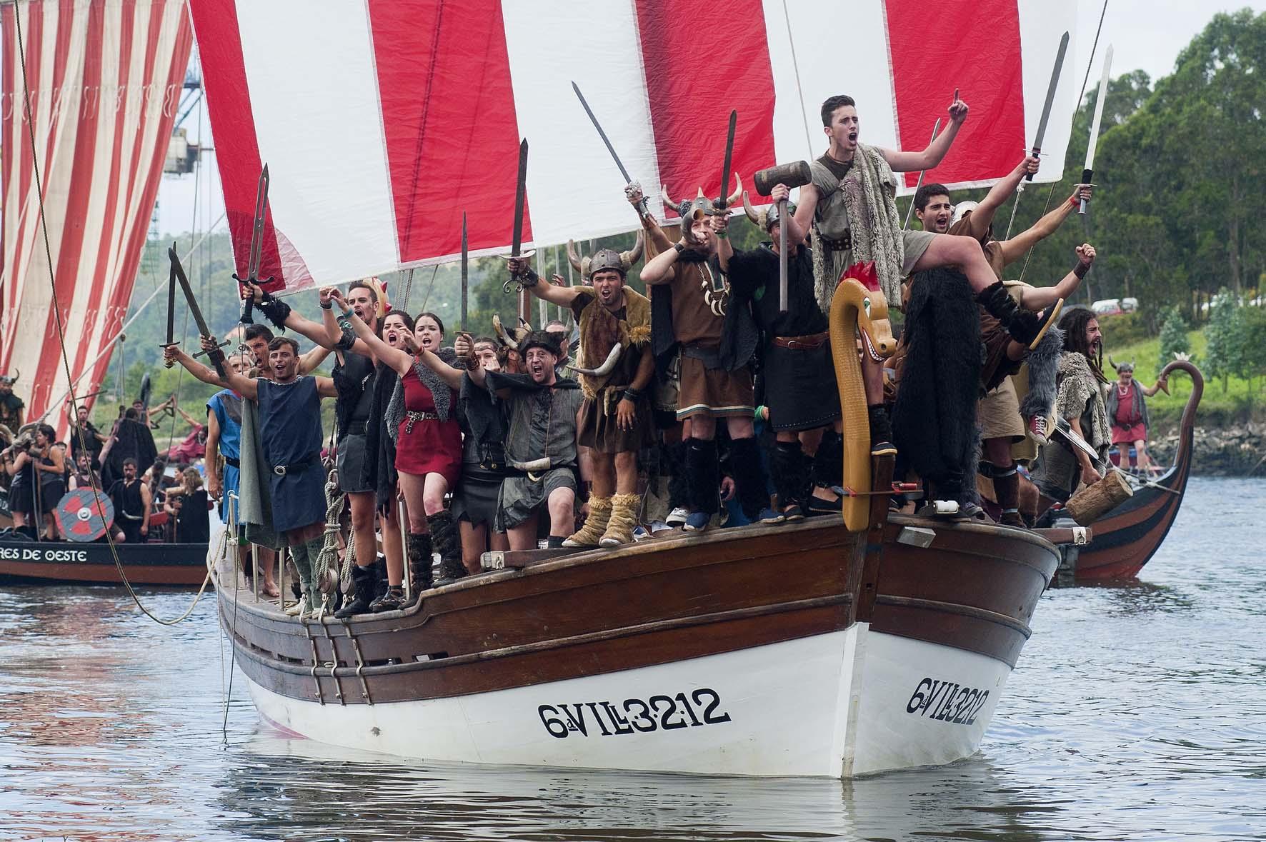 Romería Vikinga Catoira, Pontevedra, Galicia