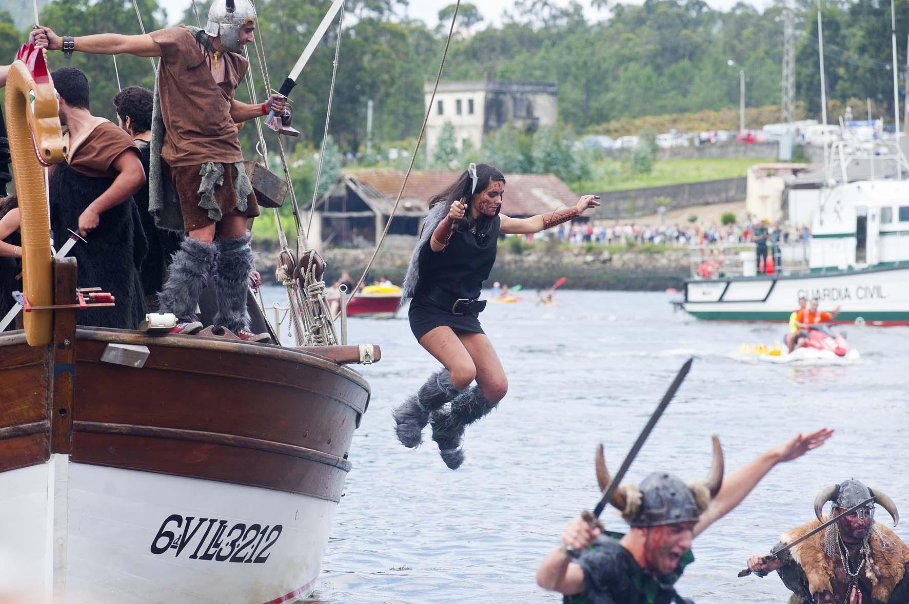 Vikingos en España: desembarco vikingo en Catoira, Galicia