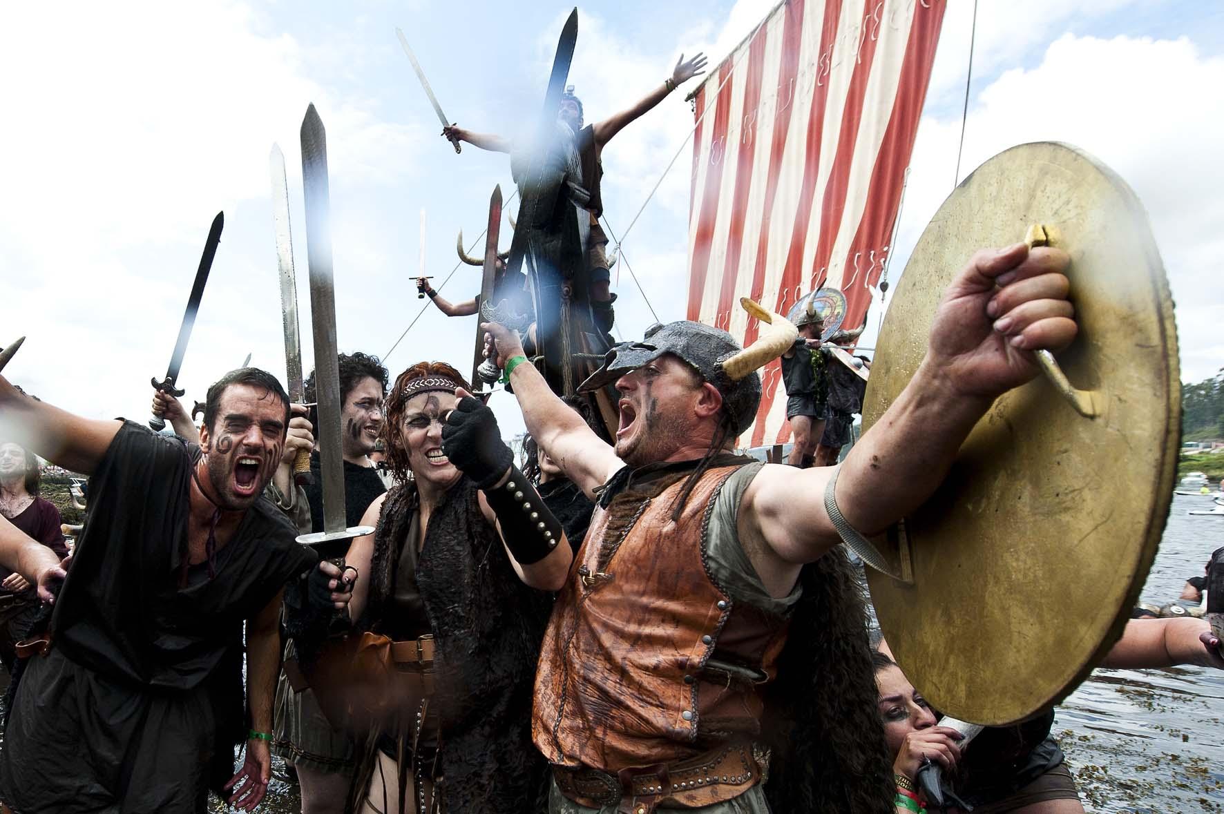 Vikingos en España, Desembarco vikingo en Catoira, Galicia