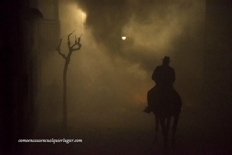 caballo fuego luminarias