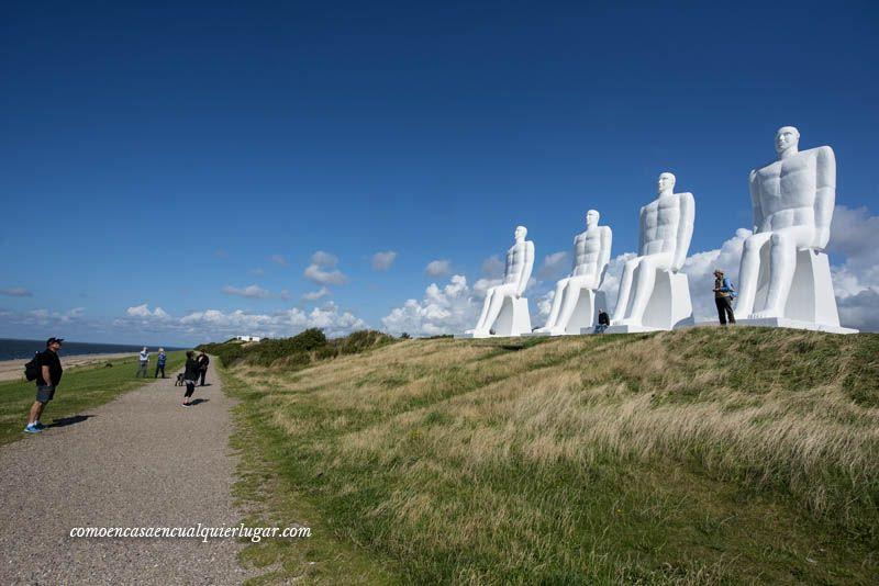el hombre encuentra el mar en Esbjerg Dinamarca Svend Wiig_foto_Miguel Angel Munoz Romero_001
