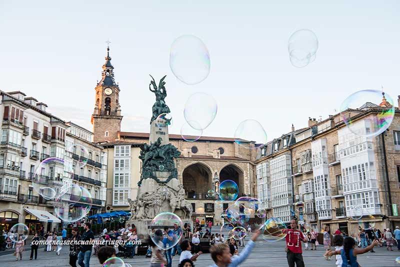 plaza de la virgen blanca Vitoria Gasteiz