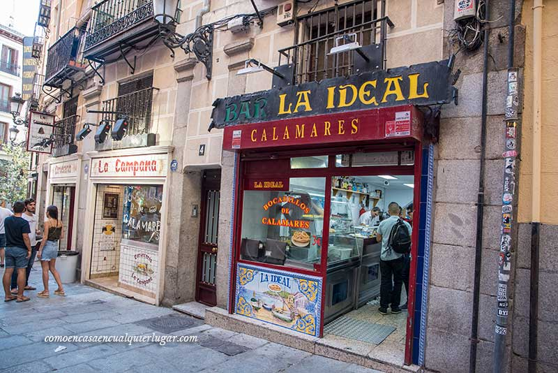 Madrid in one day la ideal la campana calamares