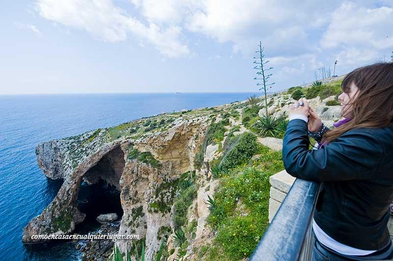 Panóramica desde el mirador de la Grotta Blue