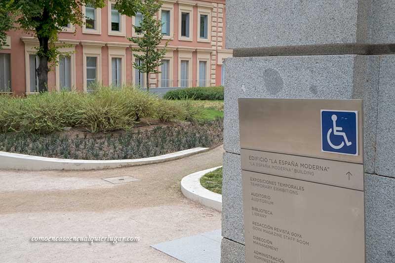 acceso discapacitados al museo madrid