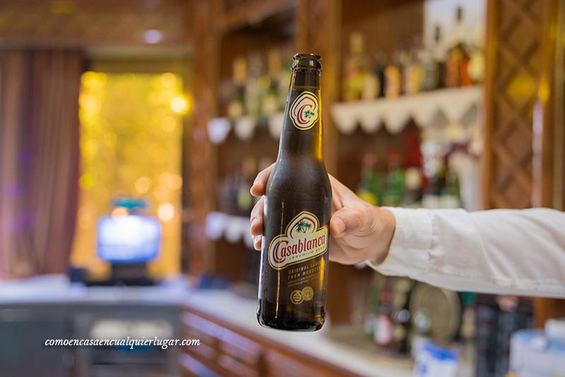 restaurante parador Chefchaouen cerveza